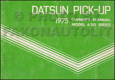 1975 Datsun Pickup Truck Owners Manual 620 Owner Guide Book OEM Original