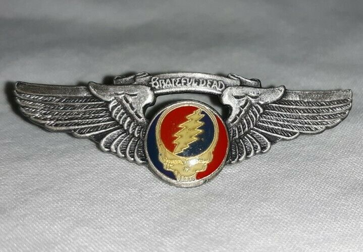 Original Vintage Grateful Dead Steal Your Face Wings pin/badge - Small