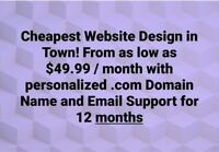 Cheapest Website Design in Town! $49.99 Only!