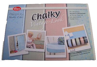 10 teilig Set  Chalky Vintage Look Kreidefarbe Viva Decor