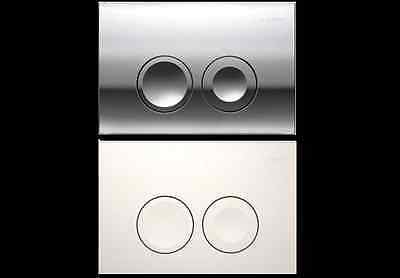 GEBERIT UP 100 Delta 21 Push Flush Plate White or Satin Chrome