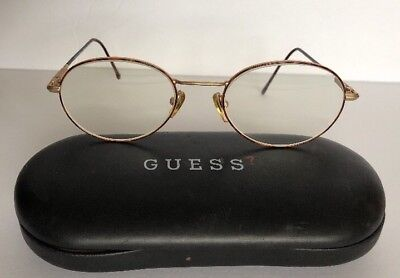 Vtg Guess? Eyewear GU 530 SG-MG 80's 51[]20 137 Womens Eyeglasses Gold Italy