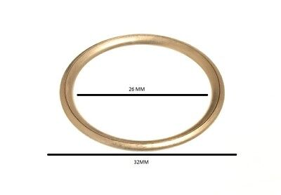 CURTAIN BLIND UPHOLSTERY RINGS HOLLOW BRASS 12MM 0D 10MM ID pack of 100