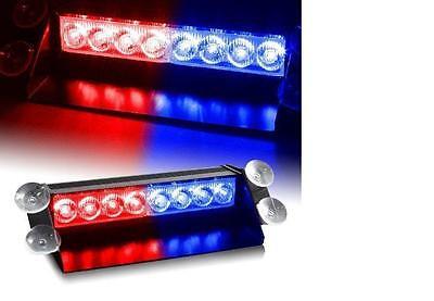24Watt LED Blaulicht Blitzlicht Frontblitzer USA Police Strobo PACE CAR rot/blau gebraucht kaufen  Oer-Erkenschwick