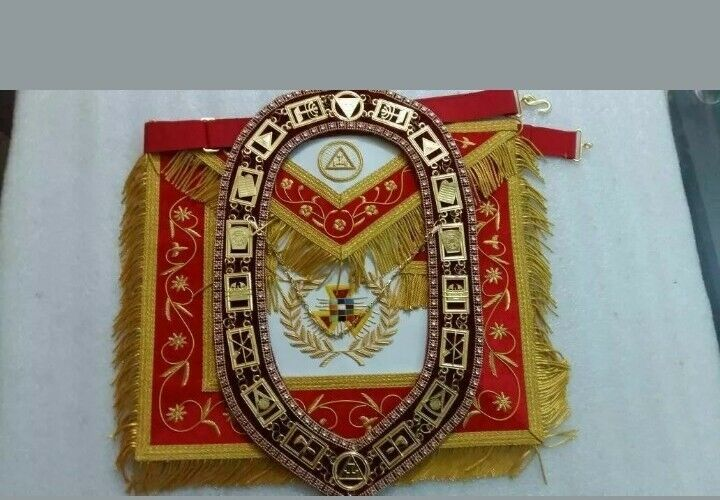 MASONIC ROYAL ARCH PAST HIGH PRIEST APRON WITH COLLAR