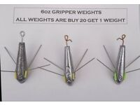 Fishing Beach/ pier weights ,plain or dca grippers