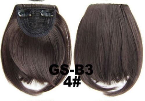 Lady Natural Hair Extension Clip In Front Hair Bangs Fringe  Straight Hair