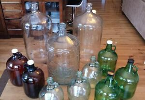 Assorted Craft Brew Bottles - 3 Carboys plus