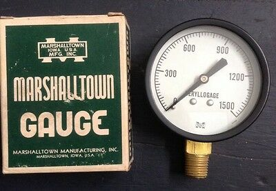 Vintage Marshalltown Gauge 2.5 Fig-1500 Beryllogage Steel Case 14