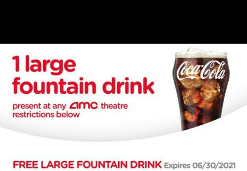 AMC Large Fountain Drink, Expires 06/30/2021  - $0.99