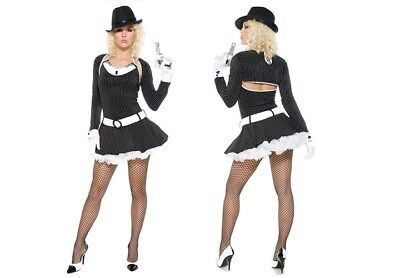 Woman's Fancy Dress Costume 1920s Gangster Costume - Size 8-10](1920s Gangster Costume Female)