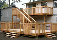 "RESIDENTIAL DECKS/FENCES "" FATHER & SON TEAM "" VERY FAIR PRICES"