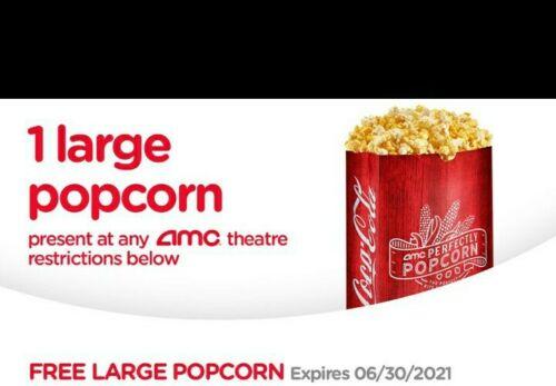 AMC Large Popcorn Expires 06/30/2021  - $0.99