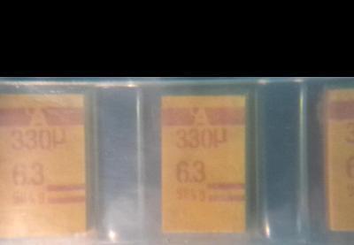 Lot Of 400 New Avx Tpse337m006r0100 330uf 6.3v 20 Tantalum Capacitor