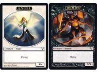 16//36 X4 Commander 2014 Magic MTG MINT CARD 13//36 DEMON TOKEN // ZOMBIE TOKEN