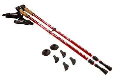New Keenfit RED 2-Piece Fitness Exercise Assisting Walking Poles  for sale  Shipping to India