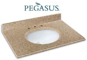 "PEGASUS 25682 GRANITE STONE VANITY TOP 25"" NEW IN BOX $130....."