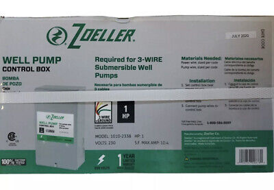 Zoeller Well Pump Control Box 230v Model 1010-2338 1 Hp 3-wire Ground