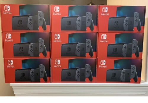 Nintendo Switch Console With Neon Red and Blue Joy Con Newes