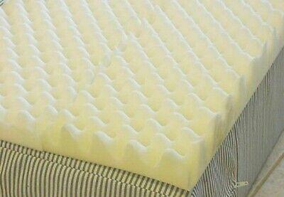 72 L x 34 W x 3 Inch Soft Foam Twin Bed Pad Mattress Egg Crate Overlay Topper