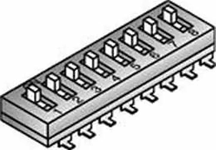 Pack of 5  106-EMR4T-EV  DIP Switches SIP Switches Recessed 4 Position