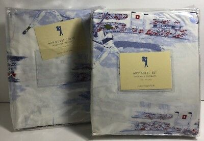 POTTERY BARN KIDS Duvet / Sheet Set TWIN - MVP SPORTS - NEW  Baseball