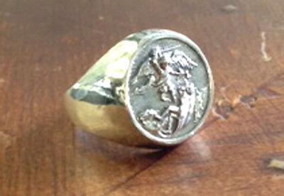 Saint Michael Men ring Sterling silver 925 sizes 6-14 Catholic Christianity