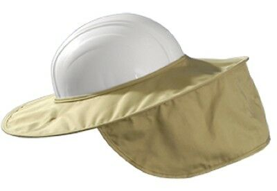 Occunomix Miracool Stow-away Hard Hat Sun Shade Protects Neck Face Khaki 899