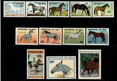 Mali NH sets (Horses) - Catalog Value $31.55
