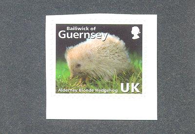 Alderney-Hedgehog mnh single-Mammals