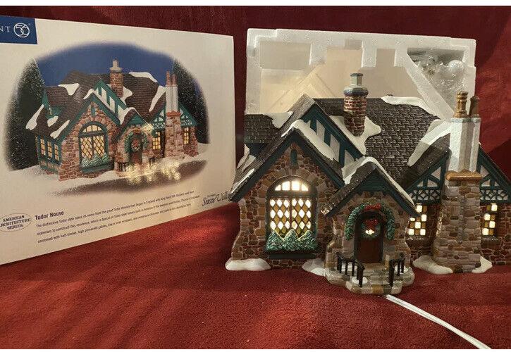 Department 56 Snow Village - Tudor House - American Architecture Series 55062