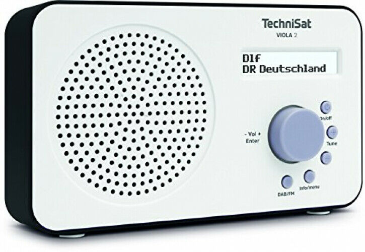 TechniSat VIOLA 2 Digital-Radio Lautsprecher UKW DAB+ LC-Display Tragbar Weiß