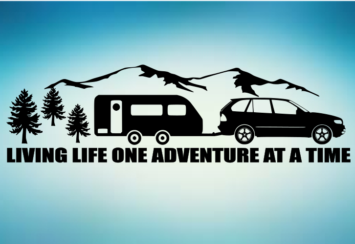 FAMILY ADVENTURE. CAMPING SURFING TENT TRIP STICKER SVG DECAL VW CARAVAN