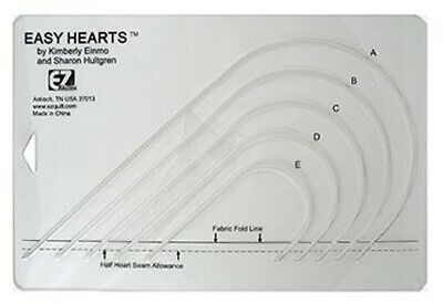 EZ Quilting Easy Hearts Ruler - Quilting Template