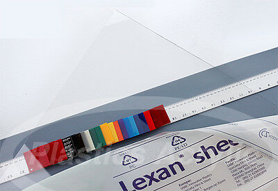 Clear Polycarbonate Lexan Sheet .030 X 12 X 24