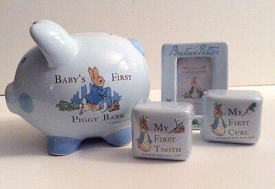 Beatrix Potter Peter Rabbit Babys First Piggy Bank Frederick Warne   Co 2004