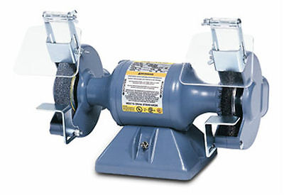 "Baldor 602E 6"" Grinder/Buffer, 3600 RPM - Stamp Steel Tool Rest, Exhaust Type"