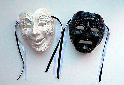 Unique Creations X-Large Italian Comedy / Tragedy Face Mask Wall Hanging Decor - Comedy Tragedy Masks