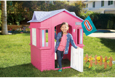 pink playhouse girl princess cottage christmas children