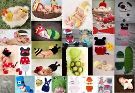 REDUCED...............JOB LOTS OF BRAND NEW Knitted Baby Boys/ Girls Photography Costume