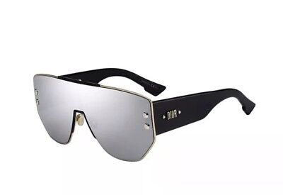 Christian Dior Addict 1 Dioraddict RHL Gold Black Shield Siver Mirror (Christian Dior Black And Gold Sunglasses)