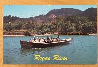 Vintage Rogue River Mail Boats, Oregon Postmarked 1966