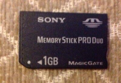 Sony Memory  Card Stick Pro Duo 1GB Magicgate Psp Sony Cybershot Cameras