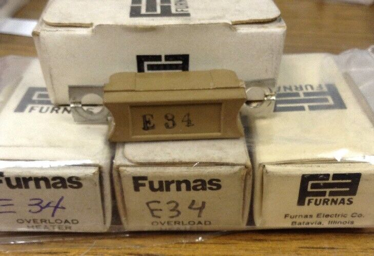 Furnas E34 Overload Relay Heater Elements LOT OF 4