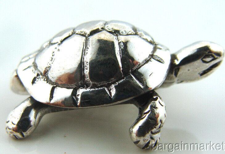 925 Sterling Silver Turtle Tortoise Figurine #s5