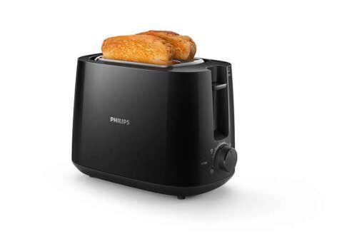 PHILIPS Daily Collection HD2581/90 Toaster Zweischlitztoaster schwarz B-Ware