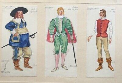 Aquarell Kostüme Trachten Uniformen signiert Ernst Hummel