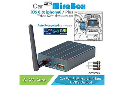 Car WiFi Mirror Link Box Samsung Android Phone Miracast AV In