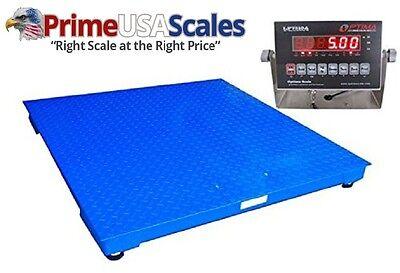 Optima Scales Op-916-4x4-10 Ntep Heavy Duty Pallet Scale - 4 X 4 Ft. 10k Lb.