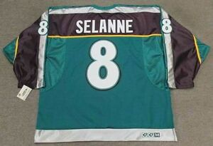 TEEMU-SELANNE-Anaheim-Mighty-Ducks-1998-CCM-Alternate-NHL-Hockey-Jersey